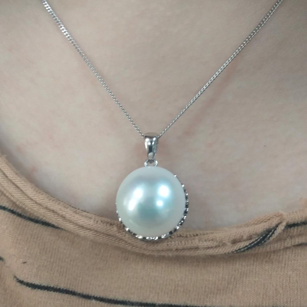 Perle Pendentifs 925 argent sterling douce perle pendentif pour les femmes