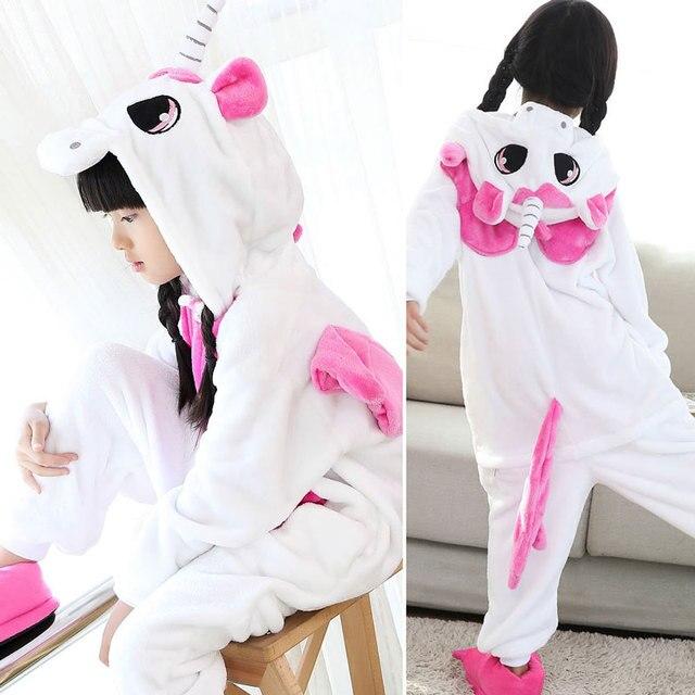 796302369 Kigurumi Pajamas For Children Girls Unicorn Anime Panda Pikachu Kids ...