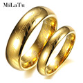 MiLaTu Gold Plated Tungsten Wedding Bands For Couples Lord Hobbit Rings For Women Men Jewelry Gift Hot Sale R151G