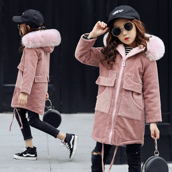 Hot Fashion Children's Jacket Girls Outwear Casual Hooded Coats Girls Jackets School 4-15Y Baby Kids Trench 2018 Spring\ Autumn
