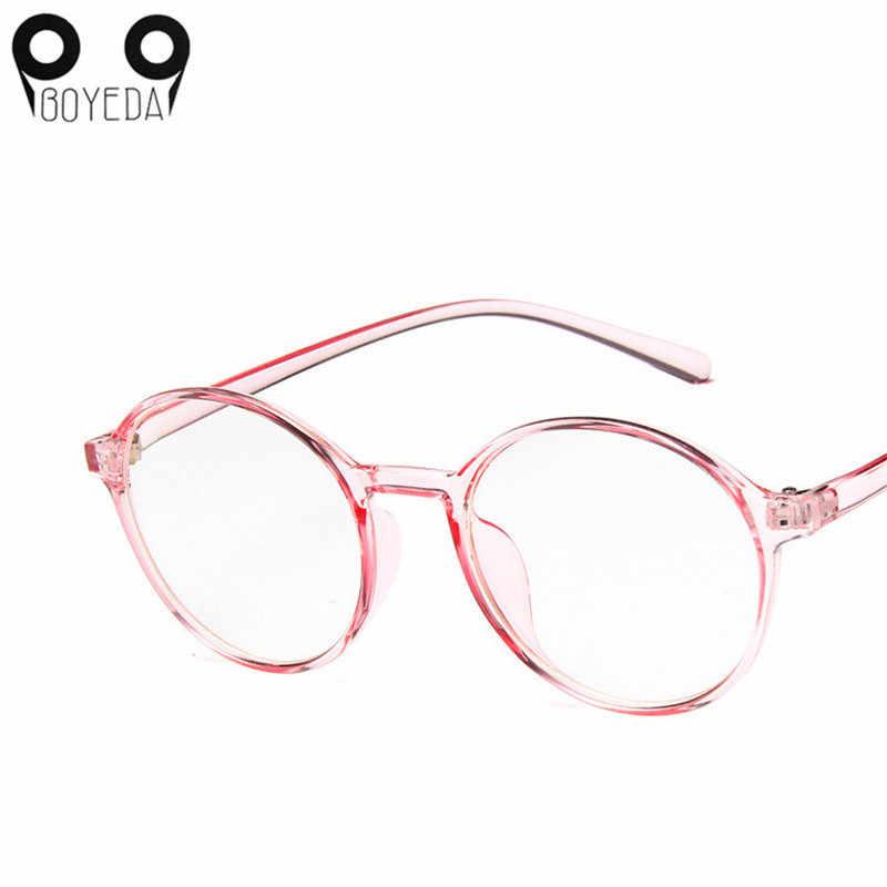 6dd017b2883 BOYEDA Fashion Female Eyeglasses Vintage Round Prescription Glasses Plastic  Transparent Frame for Women Glasses Reading Mirror