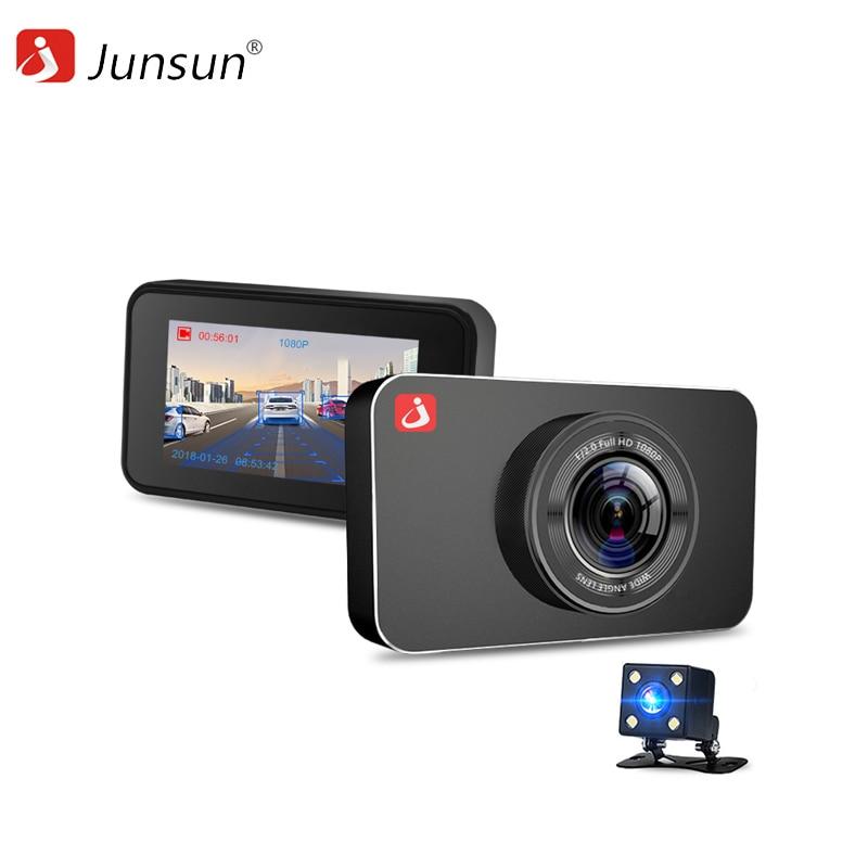 Dash camera Junsun H9 1080p car dash camera dvr with dual lens 4 screen