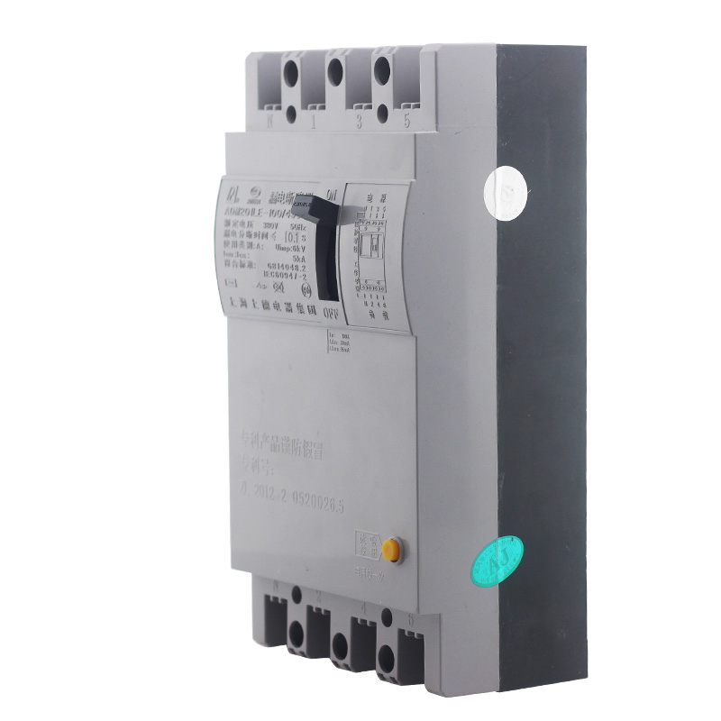 Free Shipping Leakage circuit protector air switch residual-current circuit breaker DZ15LE-100/390 100A dz47le 4p 100a 220 380v small earth leakage circuit breaker dz47le 100a household leakage protector switch rcbo
