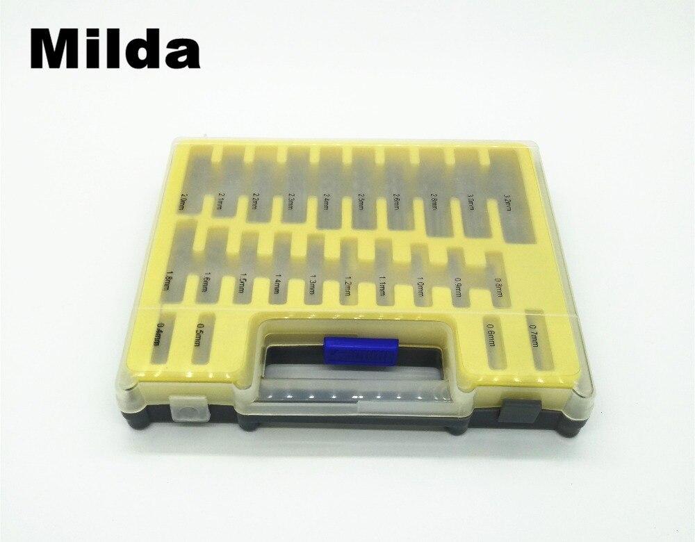 Milda 150pcs 0.4 - 3.2 mm HSS Microtech Power Tools Mini Drill Bit Set Small Precision Twist Drilling Kit with Case Plastic Box
