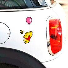 Volkrays Car Sticker Accessories Cartoon Winnie Pooh Playing Decal Decoration for Motorcycle Fridge Wardrobe Golf Polo Audi Bmw