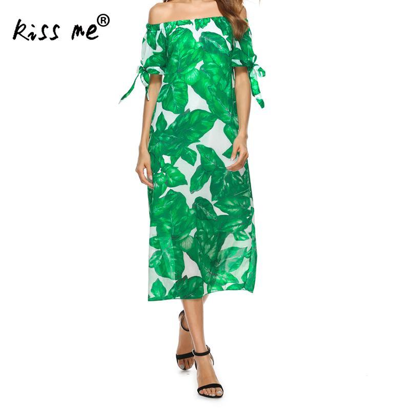 2017 Summer Women Kaftan Beach Long Bikini Cover Ups Pareo Beach Tunic Dress Bohemia Green Printed Leaf Bathing Suit Cover Up xl