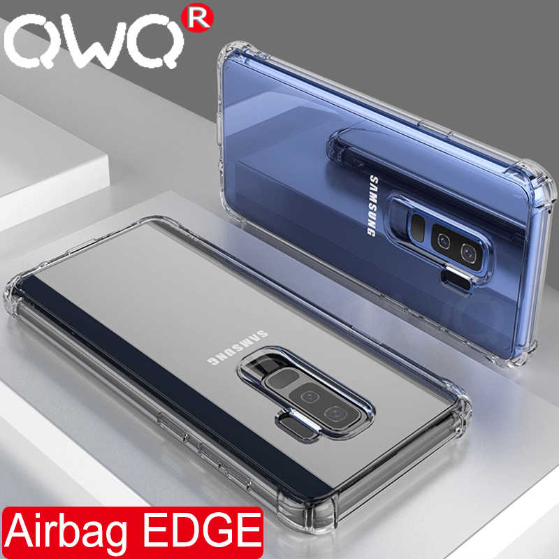 עמיד הלם טלפון מקרה לסמסונג גלקסי S9 בתוספת S8 בתוספת הערה 8 9 רך סיליקון מגן כיסוי עבור Samsung s7 קצה בחזרה מקרה