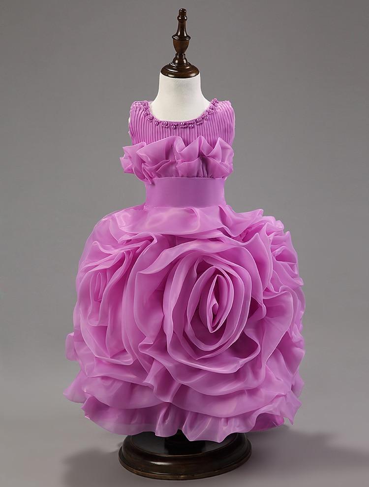 Květinové šaty pro svatby svatební hostiny květinové dívky - Dětské oblečení