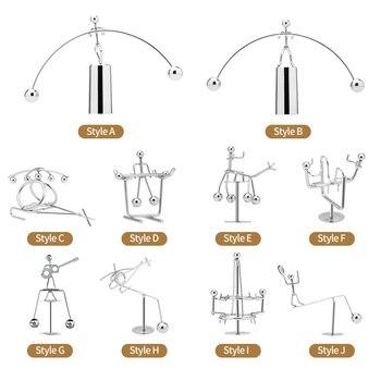 Balance Iron Man Ball Crafts Desk Toy Newton Pendulum Home Decoration Accessories XTY