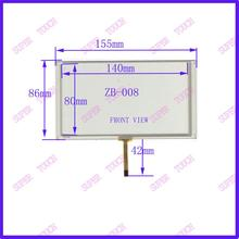 6.2 inch Huayang vehicle DVD navigation screen screen 155*86 ZB-008 four line eight line
