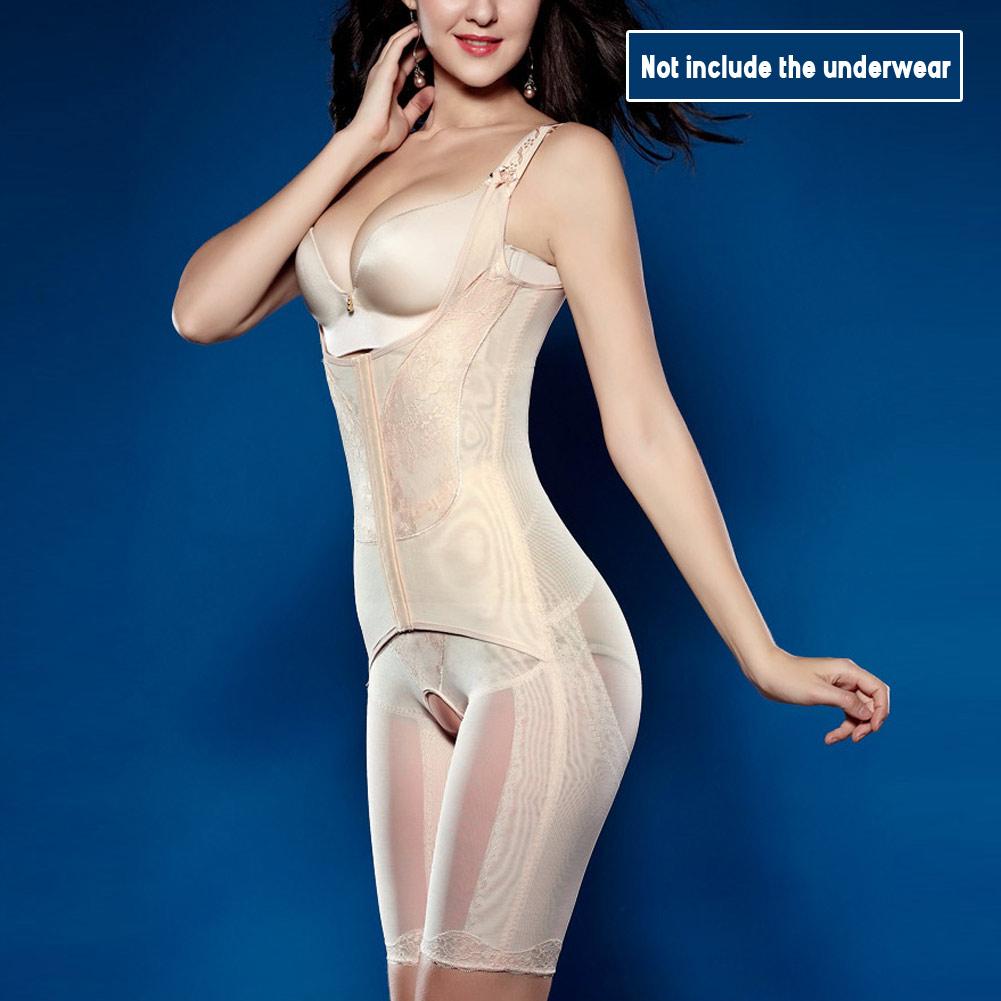 0f103637a3ba5 2019 Postpartum Slimming Shapewear Open Bust Magnetic Corset Underwear Waist  Corsets Bodysuit Women Girdles Body Shaper