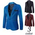 Hot Sale Men Suit han Edition Cultivate One's Morality Leisure Pure Color Suit 3 Color Optional  Fashion Slim Blazer