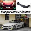 Car Splitter Diffuser Bumper Canard Lip For BMW Z4 Z4M E85 E89 Tuning Body Kit  / Deflector Car Fin Chin Reduce Body