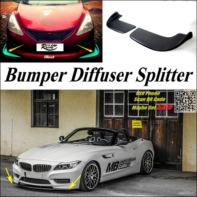 Bmw Z4 Splitter: Car Splitter Diffuser Bumper Canard Lip For BMW Z4 Z4M E85