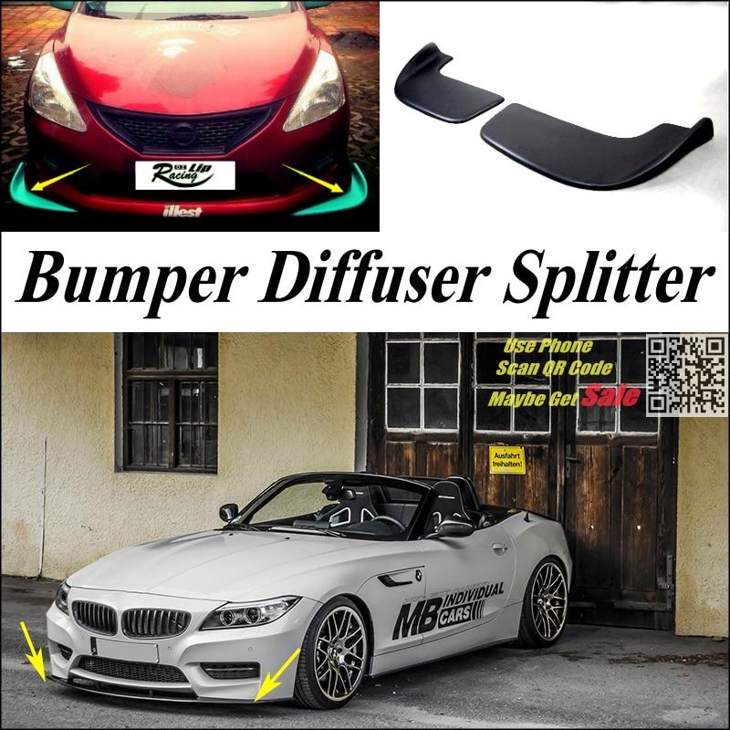 voiture splitter diffuseur pare chocs canard lip pour bmw z4 e85 z4m e89 tuning kit carrosserie. Black Bedroom Furniture Sets. Home Design Ideas