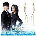 2016 Nueva Brinco Drama Coreano Mi Amor De La Larga enlace de La Cadena Borla de La Onda Pendientes Canción yi Chica Generación Para Jessica pendiente