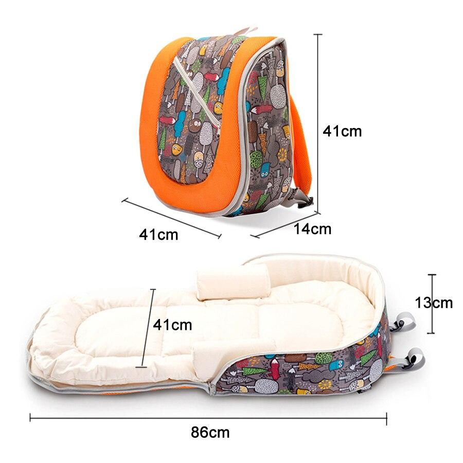 Lit bébé multifonction pliable amovible momie sac nouveau-né portable bébé lit bébé nid lit voyage lit pour bébés enfants - 4