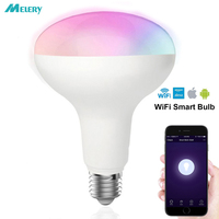 WIFI Smart LED Light Bulbs E26 8W R95 Equal 80W Reflector RGB White Color Mood Light Homekit Works with Alexa and Google Home