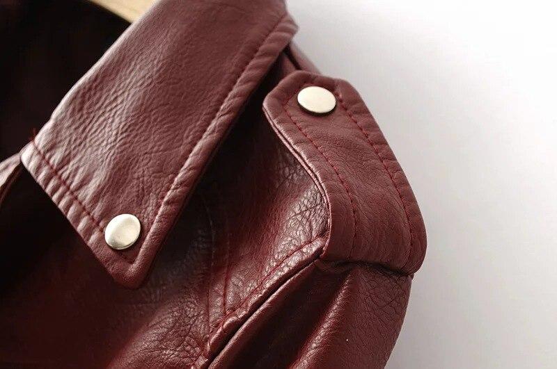 HTB1AKs0cEEIL1JjSZFFq6A5kVXaN Aelegantmis Autumn New Short Faux Soft Leather Jacket Women Fashion Zipper Motorcycle PU Leather Jacket Ladies Basic Street Coat