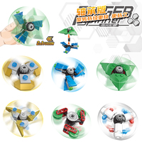 New Hand Spinner Triangle Crabs Rotating Bearing Spinner Blocks Autism Tip Gyro Ball Rainbow Color Bluding