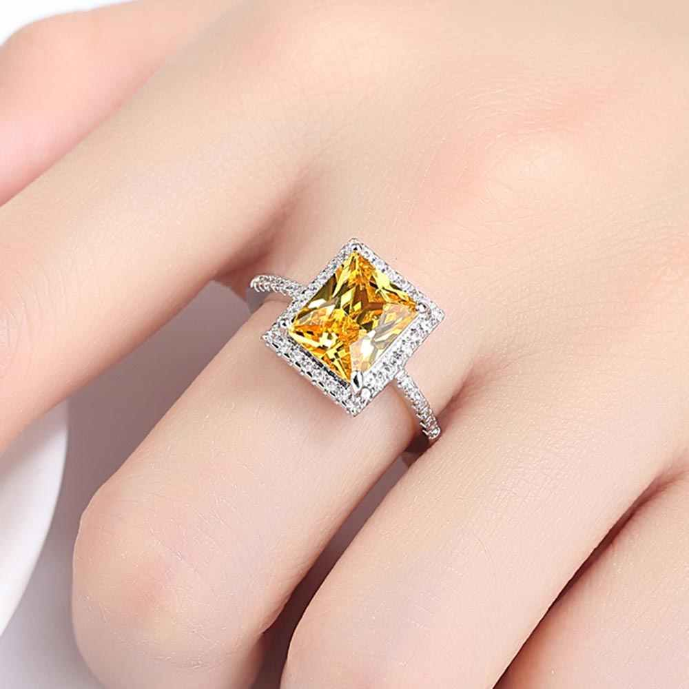 Beiver แชมเปญ Cubic Zirconia สีขาวทองแหวนผู้หญิง 2019 ใหม่แฟชั่น