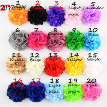 10pcs/lot 2 inch Silk Satin Mesh Flower with Hair Clip Headwear Accessories Solid Summer Color Wedding Decor TH54