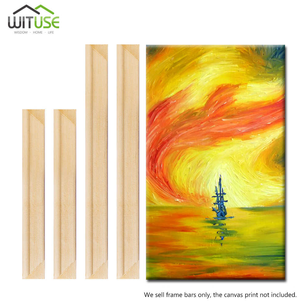 2x Canvas Stretcher Frame Bar Wood Strip For Gallery Wrapped Paintings 20cm-60cm (Need 4pcs to Be a Wooden Canvas Frame)