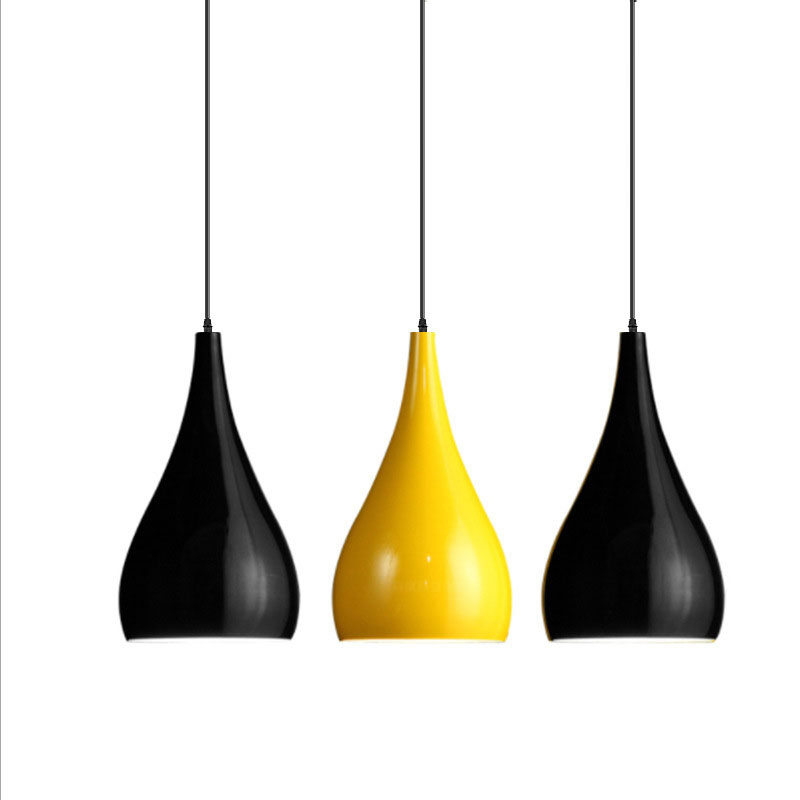 Minimalist Office Pendant Light White Black Yellow Drop Lights Modern Hanging Pendant Lamp Contemporary Restaurant Lighting Minimalist Office Pendant Light White Black Yellow Drop Lights Modern Hanging Pendant Lamp Contemporary Restaurant Lighting