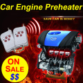 Heat Anywhere! Car Preheater 12V Remote Control Car Engine Preheater Engine Oil Preheating System 12V Engine Preheater