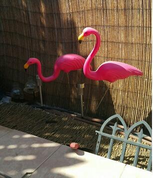 2pcs/lot,pink Color Simulation Flamingo Garden Landscape Simulation Crafts Decoration Ornaments PE Flamingo