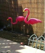 Free shipping,2pcs/lot,pink color Simulation flamingo garden landscape simulation crafts Decoration Ornaments PE flamingo