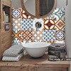 Funlife 이슬람 터키 타일 스티커, 방수 욕실 스티커, Self Adhesive 장식 주방 타일 벽 가구 스티커