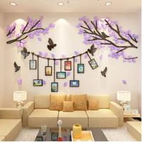 Creative Tree branches Photo Wall 3D Acrylic three dimensional wall stickers TV living room restaurant Wall Decorations