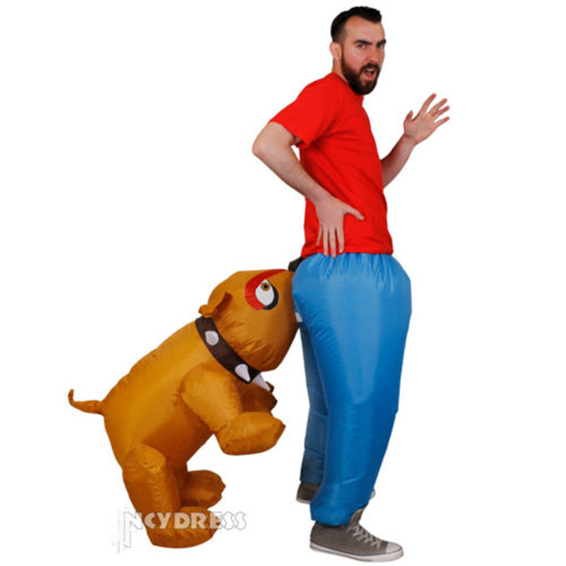 Inflatable dog bite costume Dog mascot costume for Adult Animal Halloween Purim party150cm 200cm