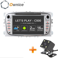 Ownice C500 4G LTE 2 Din Android 6.0 2G RAM Car DVD Player For FORD Focus S-MAX Mondeo C-MAX Galaxy Quad Core GPS Navi Radio
