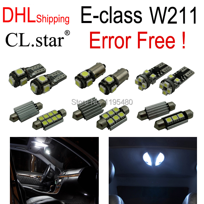 26pc X 100% Error free LED Interior Light Kit For Mercedes For Mercedes-Benz E-class W211 (2002-2008) auto fuel filter 163 477 0201 163 477 0701 for mercedes benz