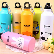 1PC 500ML Lovely Animals Pattern Kettle Bicycle Water Bottle Sport Kettle Gym Girls Portable Kettle Gift 6 Color Available