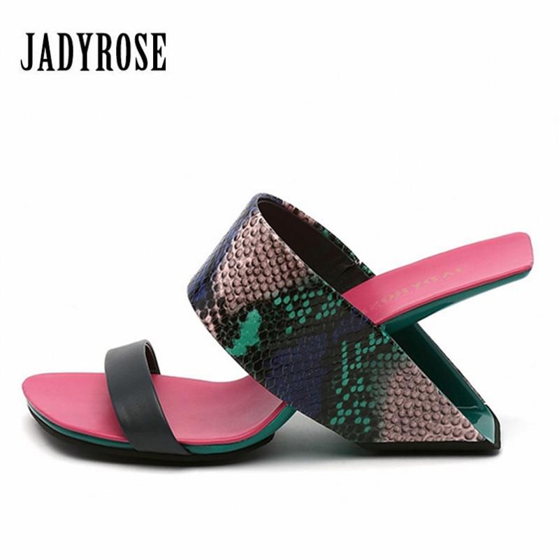 Jady Rose Fashion Strange Heel Women Slippers Summer Sandals Sexy High Heels Gladiator Sandal Beach Slides