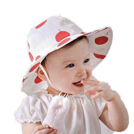Unisex Big Polka Dot Sun Hats Kid Baby Ear Design Fisherman Summer Sun Protective Hat Boys Girls Cotton Sun Hat MZ2796
