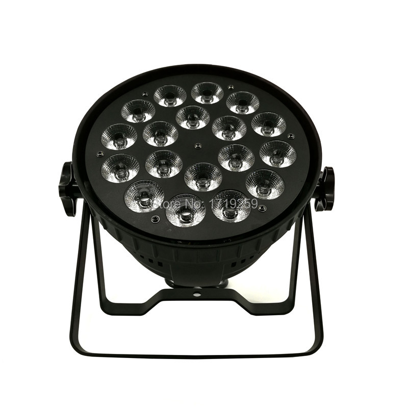 2pcs/lot LED Par 18x15W RGBWA Light DMX Stage Lights Business Lights Professional Par Can for Party KTV Disco DJ Uplighing niugul dmx stage light mini 10w led spot moving head light led patterns lamp dj disco lighting 10w led gobo lights chandelier