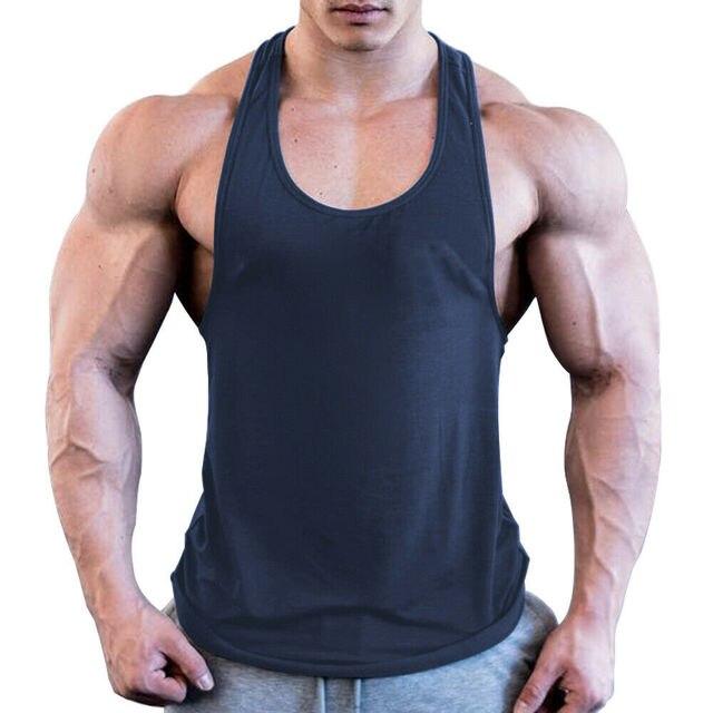 Men Sport Gym Workout Fitness Stringer Weight Loss Singlets Vest Shirt Breathable Male Running T-Shirt Sport Shirt 1