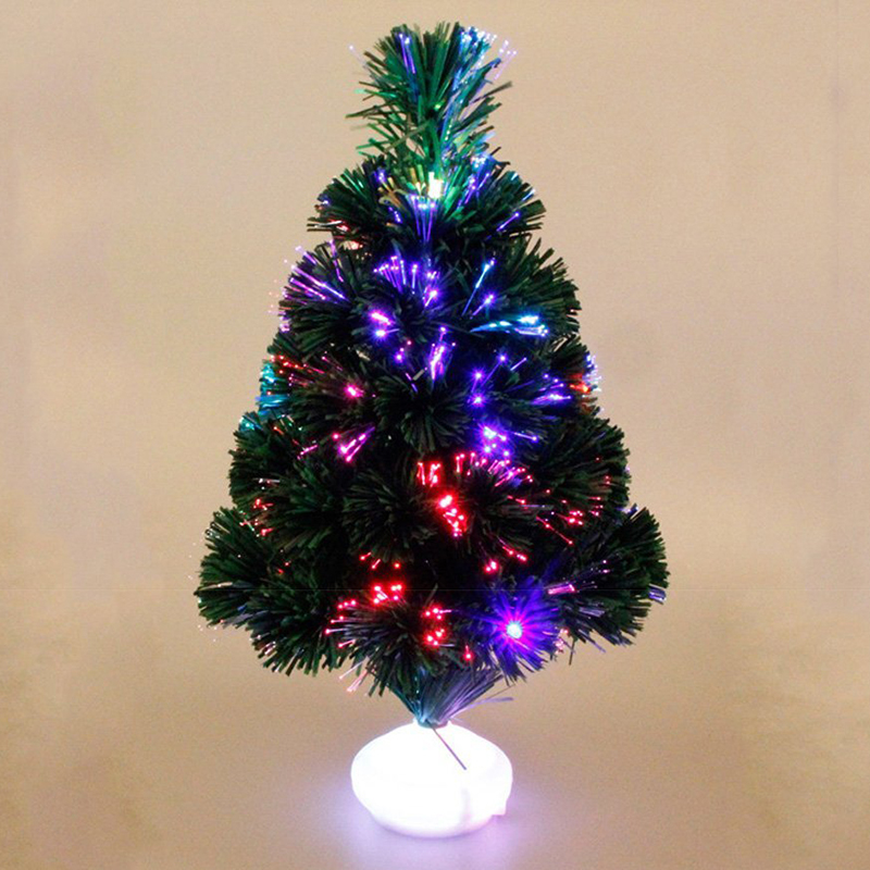 45cm Mini Christmas Tree Fiber Optics Artificial With LED And Stand For New  Year Decoration Supplies Dropshiping-in Trees from Home & Garden on ... - 45cm Mini Christmas Tree Fiber Optics Artificial With LED And Stand