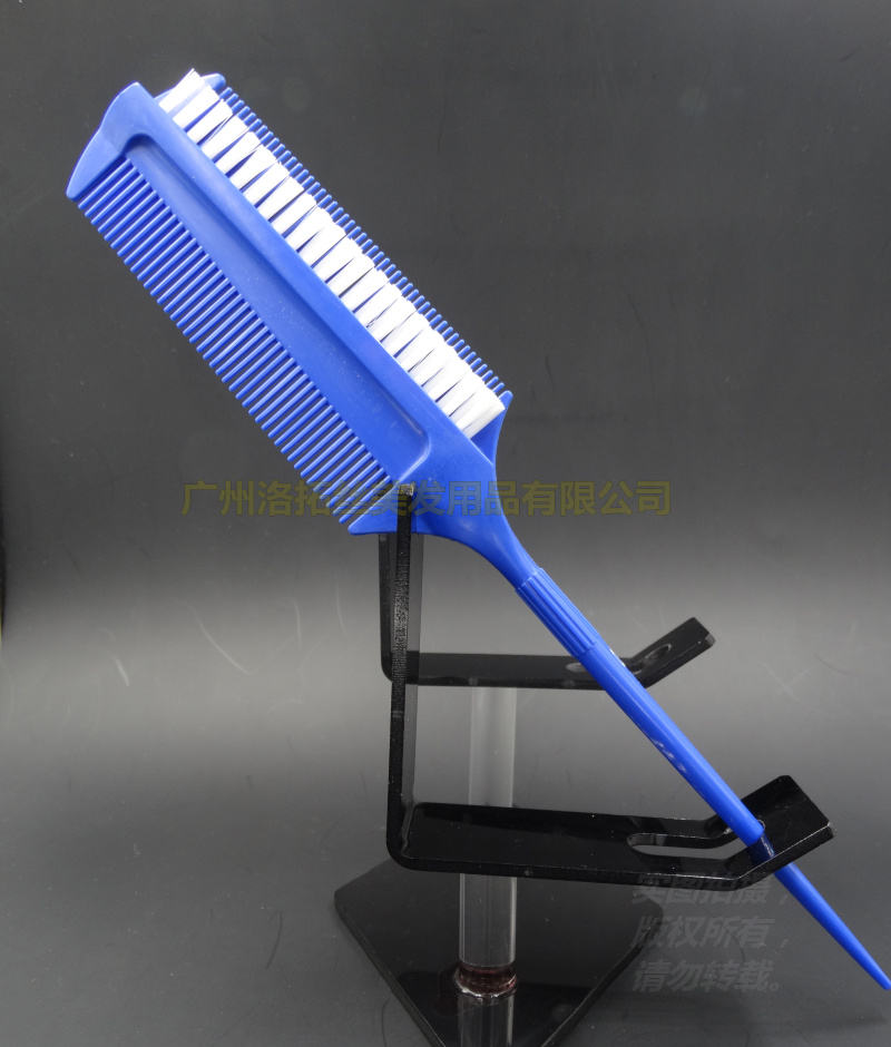 Blue Hair Color Mixing Brush In Profession Design, Nylon Hair Tinting Brush For Hair Color Mixing