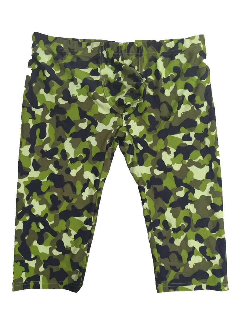 camouflage mens cargo pants fashion sexy camouflage dress camouflage Male Middle Pants Elastic Waist Design M02-2 14
