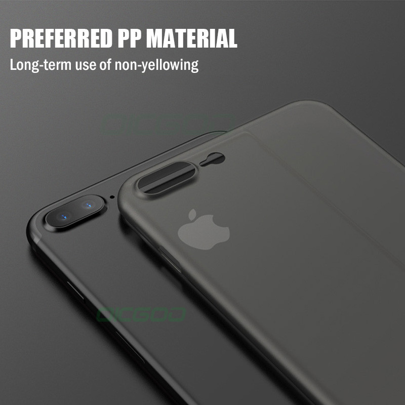 huge selection of 34158 b410e 0.26Mm Slim Matte Protection Iphone 8 7 6 Plus Ultra Thin Cover Cases For  Iphone 6 6S Plus 7 8 Phone Case Shell