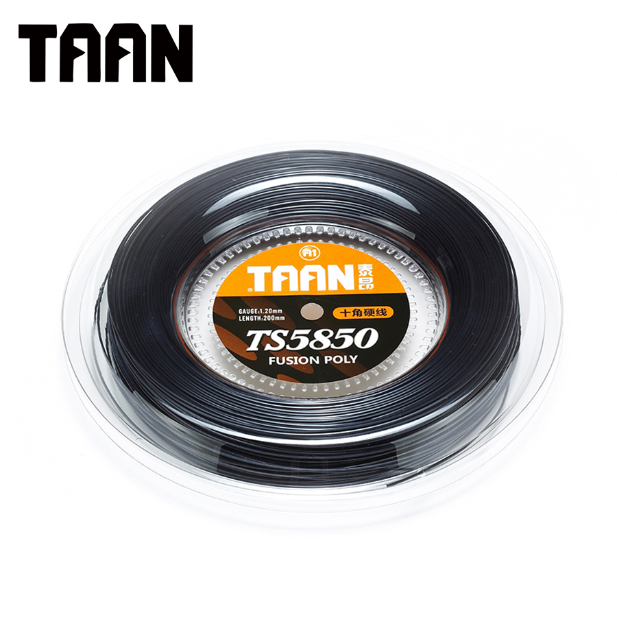 TAAN Tennis String Polyester String Tennis Racket String 200m Reel 1.20mm Fusion Poly Cyclo Decagonal String Trainer TT5850 free shipping geo synthetic hexagonal nylon soft tennis racket string reel tsb 03