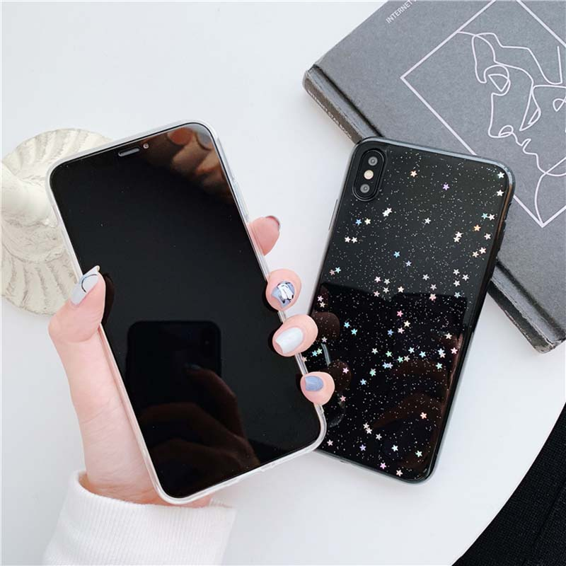 HTB1AKuYM9zqK1RjSZFjq6zlCFXa3 - Lovebay Bling Star Glitter Soft TPU Phone Cases For iphone 11 Pro XS Max XR X 8 7 6 6S Plus 5S SE Powder Transparent Cover