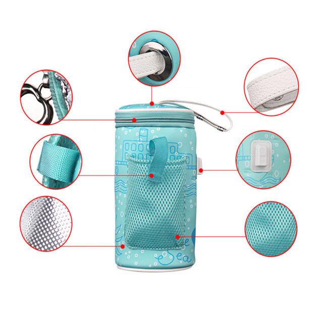 Calentador de biberones por USB con aislamiento para el frío/calor