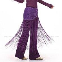 12pcs/lot Tribal Belly Dance Tassel Paillettes Waist wrap Hip Scarf Ladies Dancewear sash Belt t114