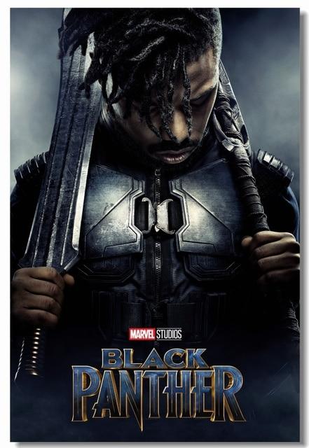 Custom Canvas Wall Decor Black Panther Poster Villain Erik